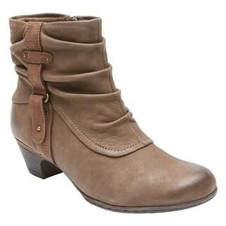 Rockport Women's Cobb Hill Alexandra Stone Full Grain Burnished Leather