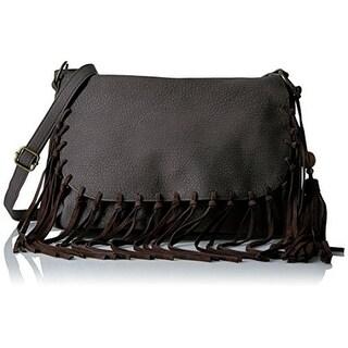 T-Shirt & Jeans Womens Shoulder Handbag Faux Leather Fringe - Medium
