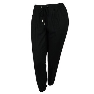 Style & Co Women's Relaxed Slim Leg Jogger Pants - Deep Black