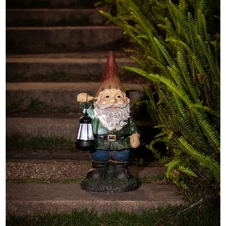 Winsome House Gnome with Solar Lantern