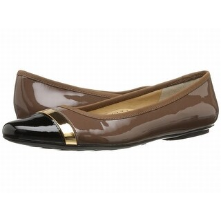 Vaneli NEW Brown Sebelie Shoes 4.5M Ballet Flats Patent Leather
