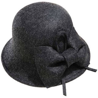 Mad Style Grey Bow Cloche Hat
