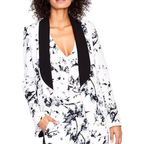 Rachel Rachel Roy Womens One-Button Blazer Floral Print Long Sleeves - 8