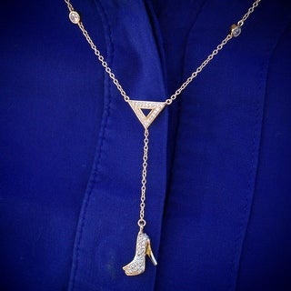 Womens High Heels Stilettos Shoe Pendant Necklace 925 Silver Gold Tone Ladies
