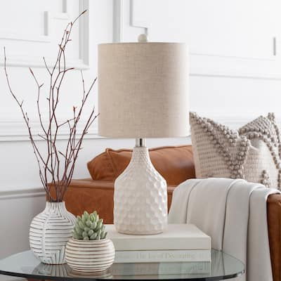 """Acacio 18.5 in. Ivory Transitional Table Lamp - 18.5"""" H"""
