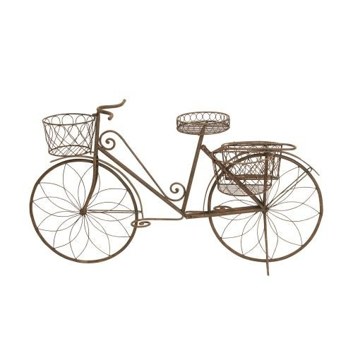 Aspire Home Accents 79182 Metal Bicycle Garden Planter