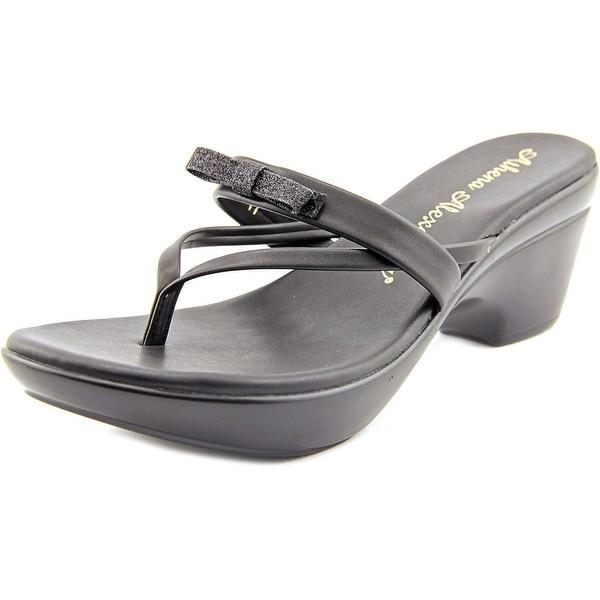 Athena Alexander Leon Women Open Toe Synthetic Black Platform Sandal