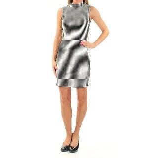 KENSIE $69 Womens New 1070 Black Pinstripe Sleeveless Body Con Dress XL B+B