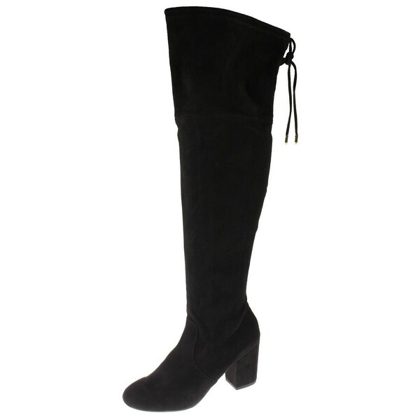 Steve Madden Womens Candle Over-The-Knee Boots Microfiber Covered