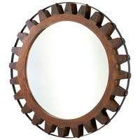 Cyan Design 4911 Landry Rounded Mirror - raw iron and natural wood - N/A