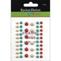 Tan/Green/Red - Eyelet Outlet Adhesive-Back Enamel Dots 52/Pkg
