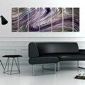 Statements2000 Silver/Gold/Purple Metal Wall Art Panels Painting by Jon Allen - Wild Imagination - Thumbnail 3
