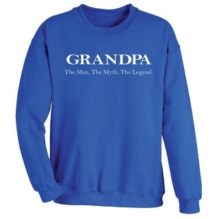 Unisex Adult Grandpa: The Man, The Myth, The Legend Sweatshirt