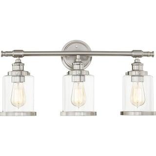 Link to Alford 3-Light Brushed Nickel Vanity Light Similar Items in Bathroom Vanity Lights