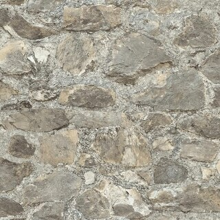 "RoomMates RMK9096WP 20-1/2"" x 198"" - Weathered Stone - Self Adhesive Vinyl Film - 28.18 Sq. Ft."