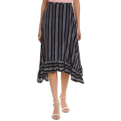See By Chloe Striped Silk A-Line Skirt