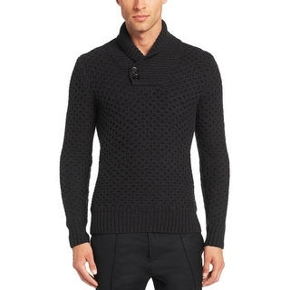 Hugo Boss Surtle Slim Fit Chunky Shawl Collar Sweater Charcoal Medium M
