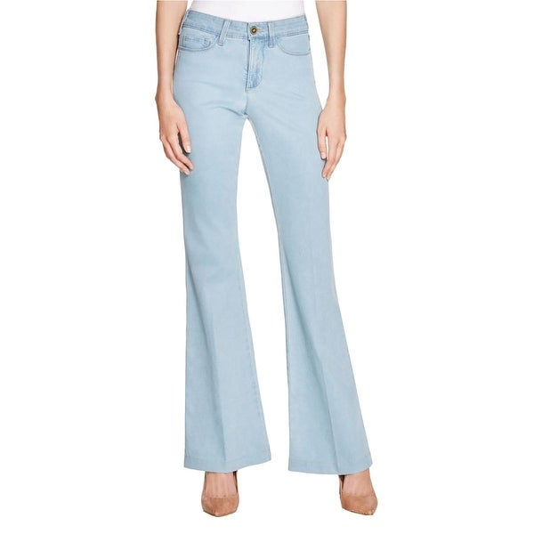 NYDJ Womens Claire Trouser Jeans Original Slimming Fit Flare Leg