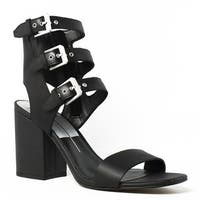 Dolce Vita Womens Black Ankle Strap Heels Size 9.5