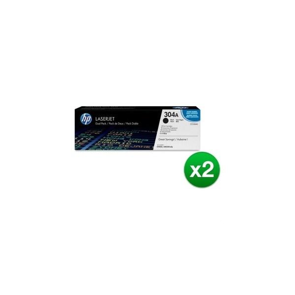 HP 304A Black Contract LaserJet Toner Dual Cartridge (CC530AD)(2-Pack)