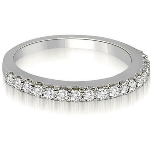0.22 cttw. 14K White Gold Classic Round Cut Diamond Wedding Band