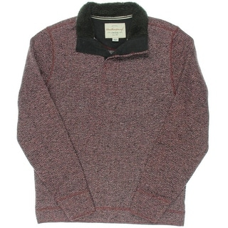 Weatherproof Mens Fleece Herringbone Pullover Sweater