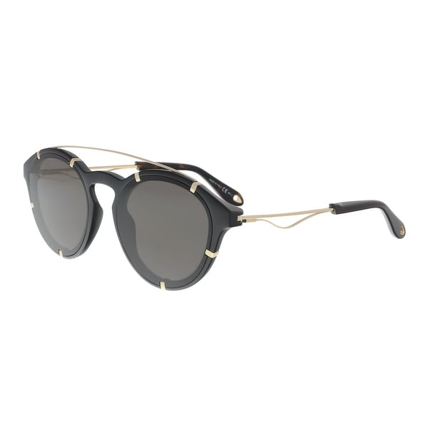 b513f70301 Shop Givenchy GV 7088 S 02M2 Black Gold Round Sunglasses - 54-19-150 ...