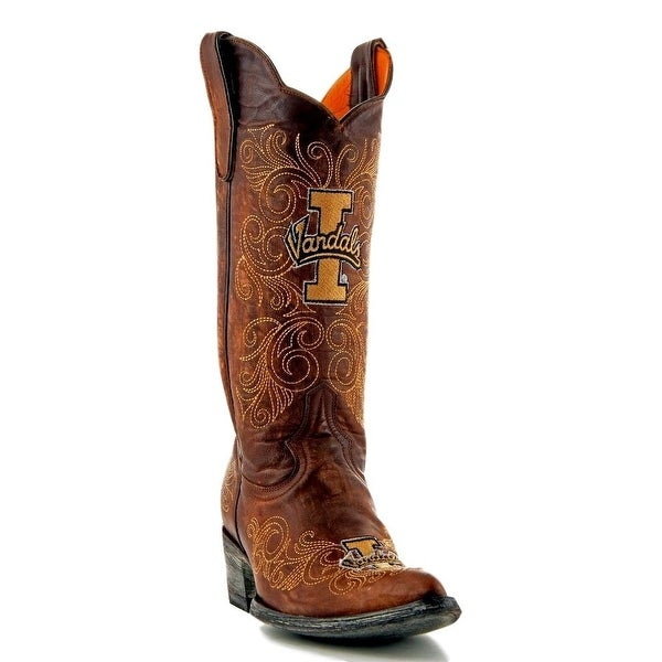 Gameday Boots Womens College Team Idaho Vandals Brass Gold