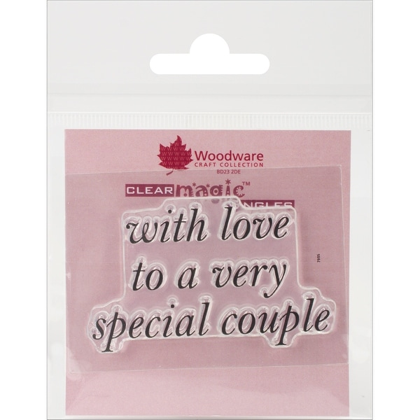 "Woodware Clear Stamps 2.5""X1.75""-Special Couple"