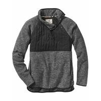 Legendary Whitetails Women's Fletching Quilted Fleece - black charcoal heather