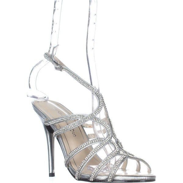 Caparros Helena Strappy Evening Sandals, Silver