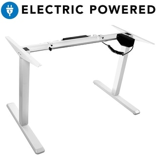 Mount-It! Electric Standing Desk Frame, Height Adjustable Motorized - White