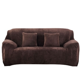 L Shaped Stretch Sofa Covers Chair Covers Couch For 1 2 3 Seater Coffee  Color