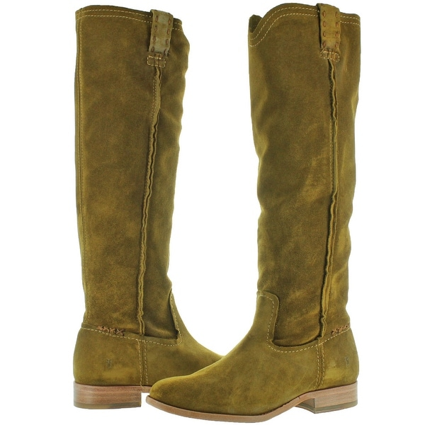 FRYE Women/'s Wood Cara Tall Suede Slouch Boot 9 NEW
