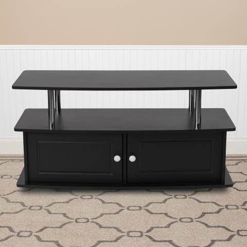 TV Stand with Shelves, Cabinet and Stainless Steel Tubing - Home Furniture