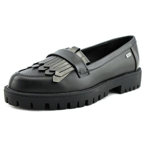 MTNG 53990 Women Black/Silver Flats