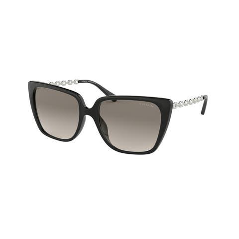 Coach HC8256U 500211 55 Black Woman Square Sunglasses
