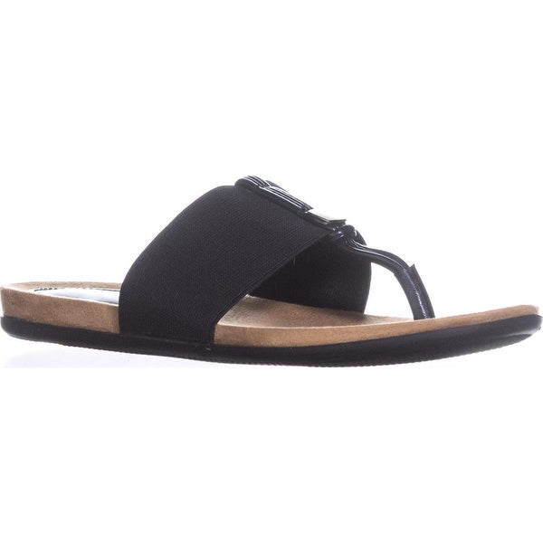 A35 Harr Flat Thong Sandals, Black