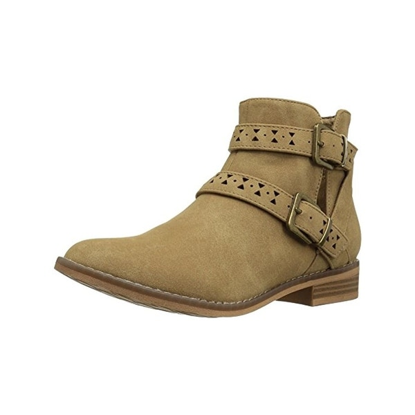 Rocket Dog Womens Mack Booties Faux Nubuck Laser Cut