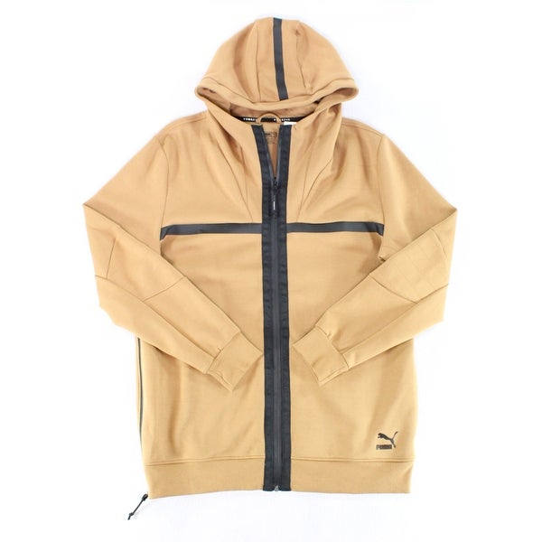 c55dc6b24c29 Shop Puma NEW Solid Beige Black Mens Size XL Hooded Full-Zip Jacket - Free  Shipping On Orders Over  45 - Overstock - 19832497