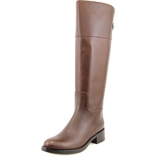 Cole Haan Carrington.Tall.Boot Women Round Toe Leather Brown Mid Calf Boot