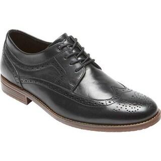 Rockport Men's Style Purpose 3 Wingtip Oxford Black Leather