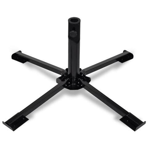 vidaXL Umbrella Base Holder Steel Foldable Black