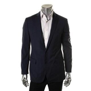 Ryan Seacrest Mens Wool Window Pane Two-Button Suit Jacket - 40S