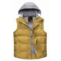 Danjieshi Yellow Womens Size XXL Puffer Layered Look Vest Jacket
