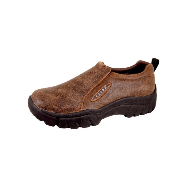 Roper Western Shoes Mens Slip On Moc Performance
