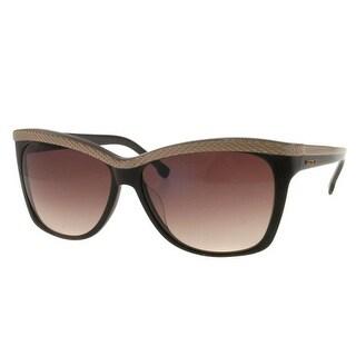 Lacoste L697S-210 Brown Cateye Metal Sunglasses