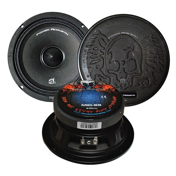 Power Acoustik MID-65 6.5-Inch 300-Watt Midrange/Bass Driver