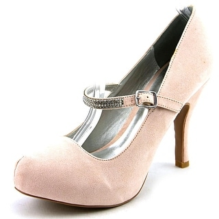 Qupid Trench-314 Women Round Toe Canvas Pink Mary Janes