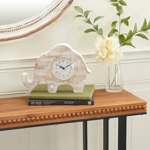 White Wood Farmhouse Clock 9 x 12 x 3 - 12 x 3 x 9